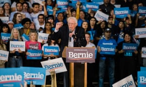 Bernie Sanders speaks at a campaign rally at Arizona Veterans Memorial Coliseum on 5 March 2020 in Phoenix, Arizona.