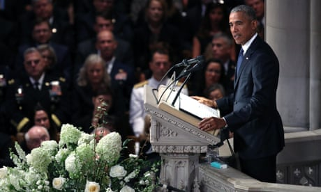 John McCain funeral: Obama's eulogy denounces 'insult and bombast' in politics