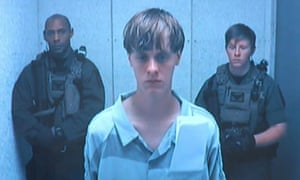 Dylann Roof appears in court.