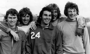 Gerry Francis (centre) on England duty in 1975.