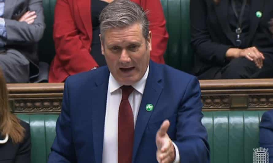 Labour leader Keir Starmer speaking in the Commons