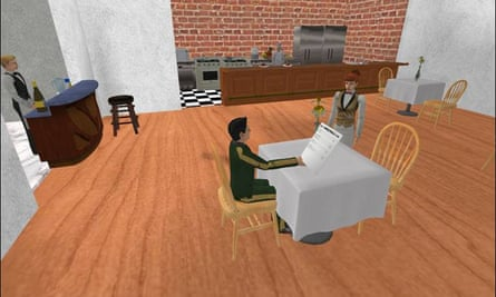 In the Restaurant Game the AI waitress had learned how to behave by watching hundreds of humans play through the game in her role
