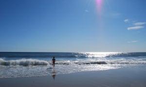 Philip Hoare at Ballston Beach, Truro, Massachusetts.