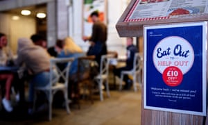 A restaurant advertises the eat out to help out scheme