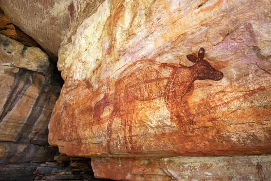 A life size rock painting at Kundjorlomdjorlom.