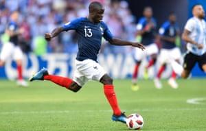 N'Golo Kanté has been France's best player.