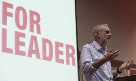 Jeremy Corbyn during a Q&A in Luton
