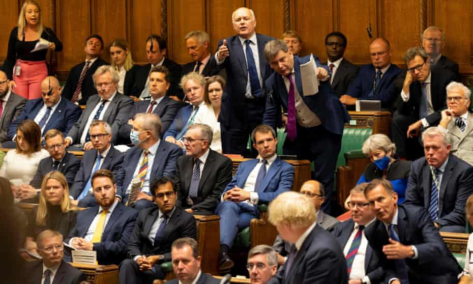 Boris Johnson in the house of commons session to discuss afghanistan