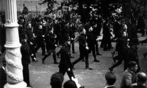 A pre-war fascist march through London organised by Oswald Mosley.