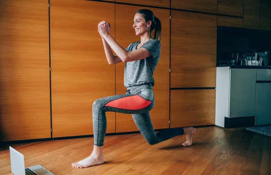 'Doing lunges at a certain speed and with enough repetitions would get your heart rate up.' (Posed by model.)