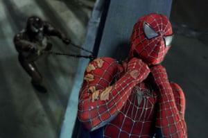 Venom and Spider-Man in Spider-Man 3.