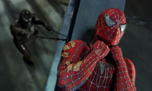 Venom and Spider-Man face off in a still from the 2007 film.