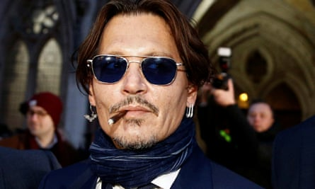 Johnny Depp leaving the high court in London in February.