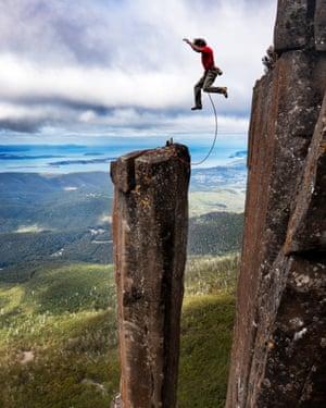 Climbing Guide John Fischer jumps back onto Albert's Tomb