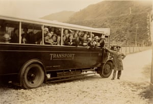 School children on a bus