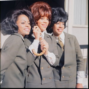 The Supremes pose for photographers on a visit to London, 1965