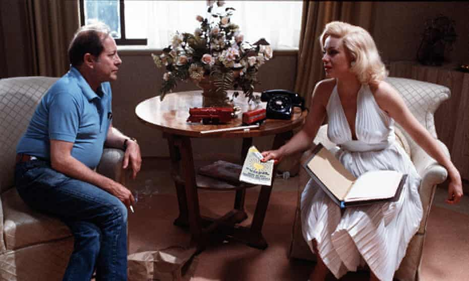 Nicolas Roeg on the set of Insignificance with Theresa Russell.