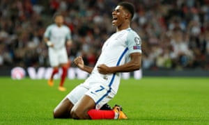 Marcus Rashford will be hoping to add to his England goas tally against Brazil on Tuesday night.