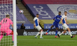 Kelechi Iheanacho fires the Foxes into the lead.