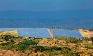 La centrale rwandaise de 8,5 megawatts a été conçue de telle sorte que sa forme ressemble, quand on la survole, à celle du continent africain.
