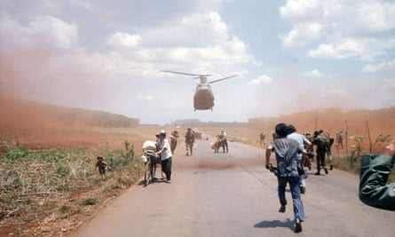 South Vietnamese flee Saigon in April 1975 with the help of the US military. Photograph by Dirck Halstead/Getty Images
