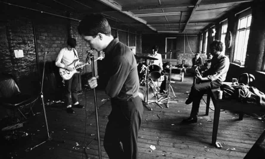 Joy Division rehearse in Manchester in 1979.