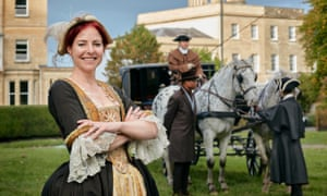 Alice Roberts, dressed as a Georgian lady in Bristol, in series two of Britain's Most Historic Towns.