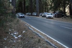 Trash has piled up at Yosemite amid the shutdown.