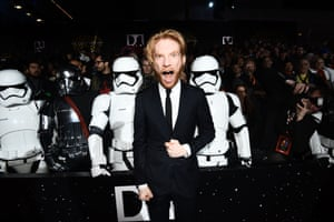 Domhnall Gleeson (General Hux) keeps his look cool and classy.