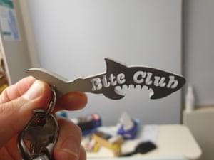 A bite club key ring.