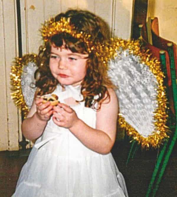 Gwen Smith as a Nativity angel, aged three.