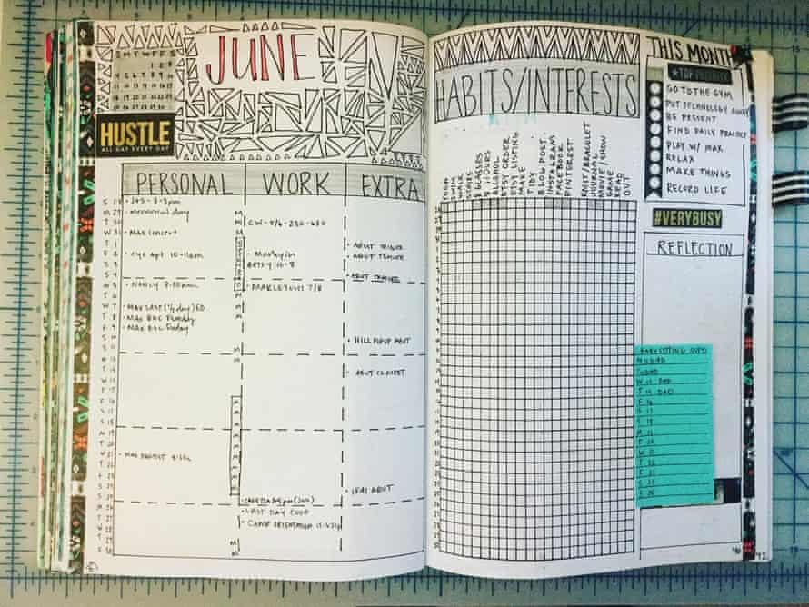 Bullet Journal example from @janiegirlcrafts / instagram
