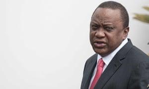 Kenya's president, Uhuru Kenyatta