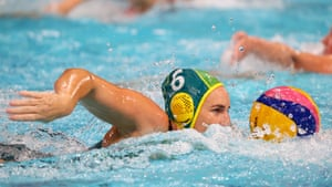 Bronwen Knox surges forward during Australia's victory.