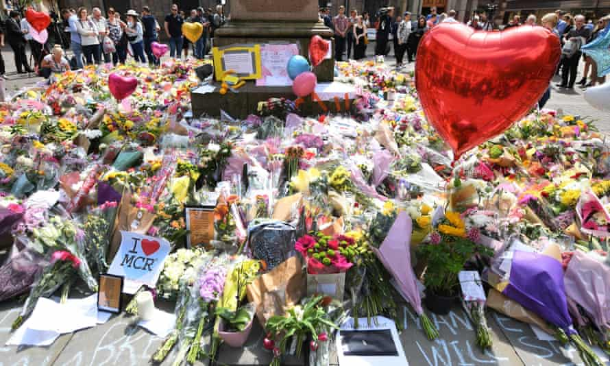 Floral tributes to victims of the Manchester bombing
