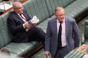The prime minister Scott Morrison and Opposition Leader Anthony Albanese