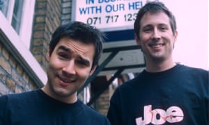 With Adam Buxton in 1999.