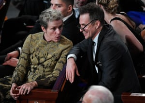 Frances McDormand who won best actress, talks Sam Rockwell, winner of best supporting actor