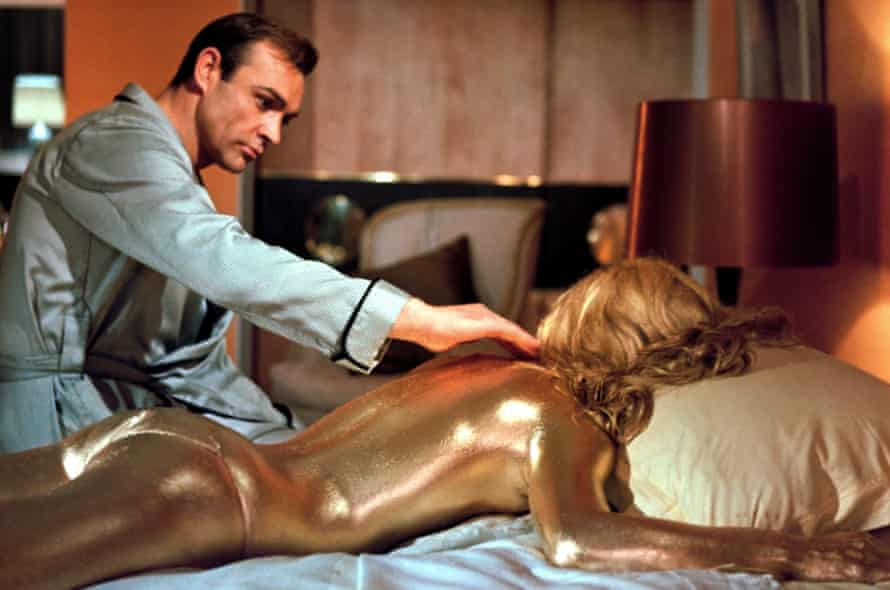 Brand upgrade … Connery and Shirley Eaton in Goldfinger.