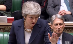 Theresa May speaks in the Commons on 4 December 2018 during the debate on the Brexit withdrawal agreement