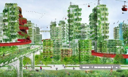 Artist's impression of the Liuzhou Forest City which is earmarked for a radical transformation from polluted metropolis to environmental haven.