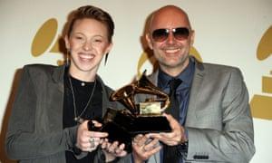 Jackson with Ben Langmaid at the Grammy awards