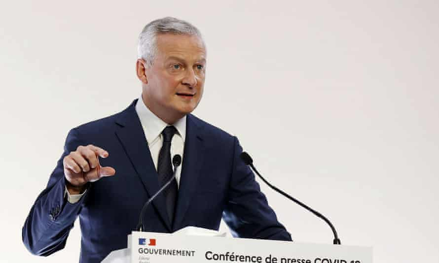 Bruno Le Maire said the forecast of 6% GDP growth this year may need to be revised downwards.