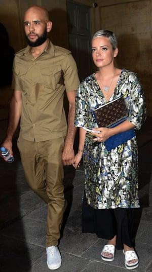 Lily Allen with boyfriend Meridian Dan in June 2017