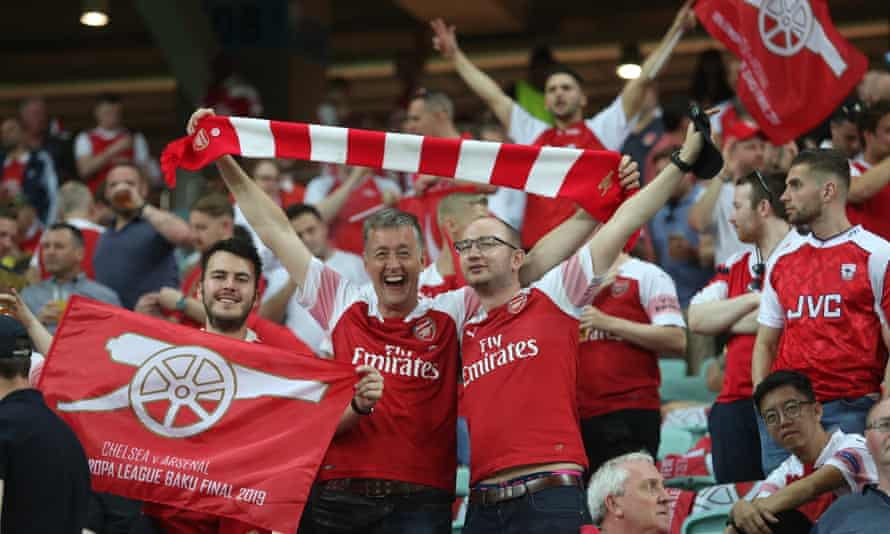 Arsenal's supporter liaison officer Mark Brindle helped fans who were travelling to Baku for the Europa League final.
