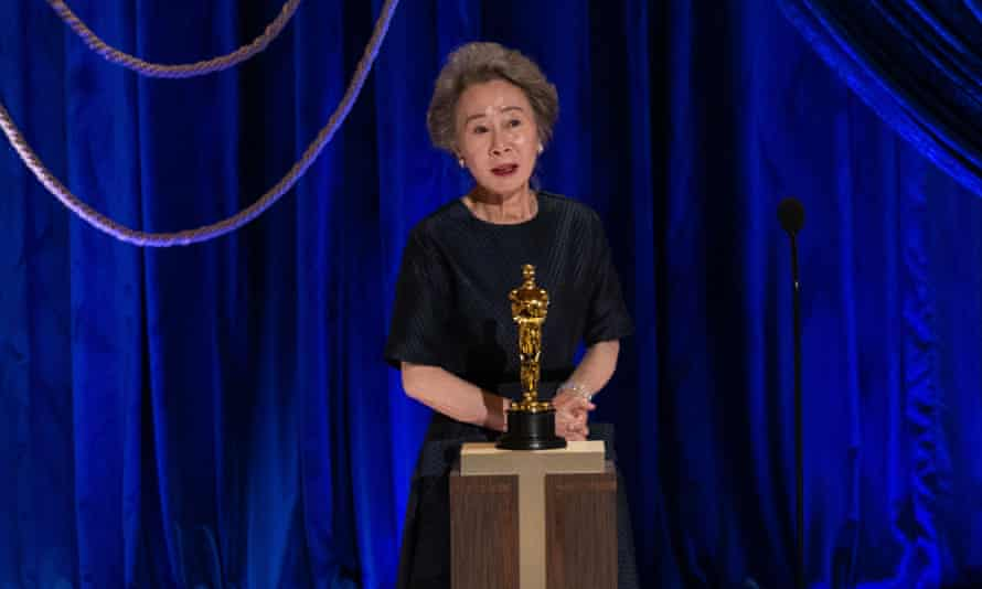 Best supporting actress Youn Yuh-jung.