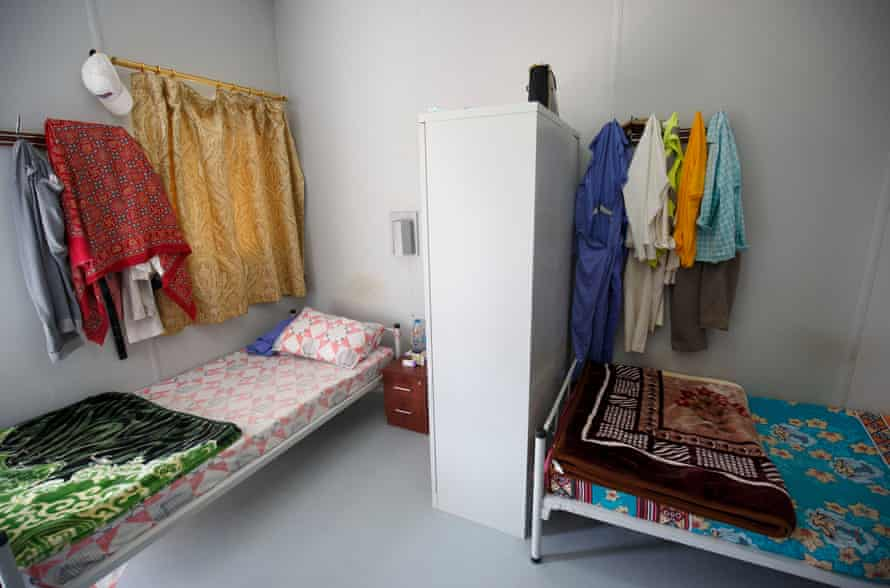 Migrant workers' room at the QDVC camp.