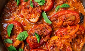 Vine romance: baked tomatoes with ginger and coconut.
