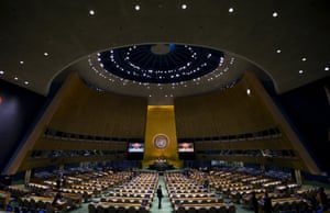 Inside the UN general assembly hall