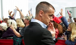 Corey Lewandowski, pictured, allegedly grabbed Michelle Fields by the arm at a press conference, causing bruises.